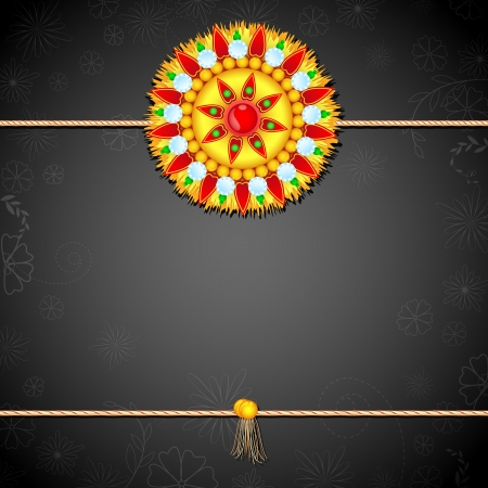 vector illustration of rakhi on raksha bandhan background Vector