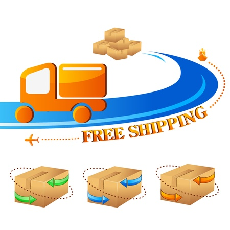 Free Shipping Stock Vector - 14504692