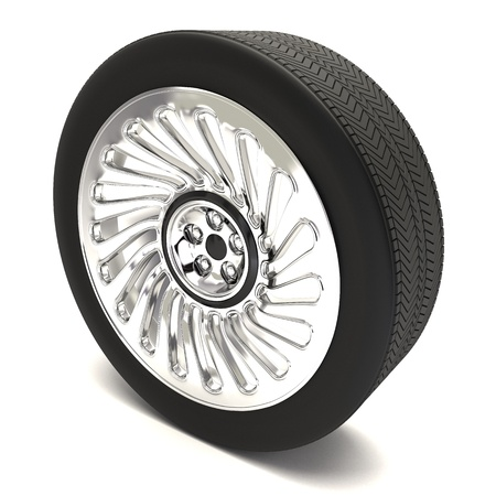 Radial Tyre with Shining Spokes photo