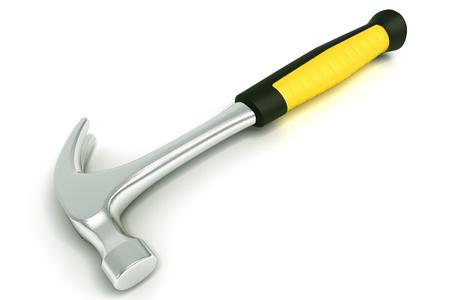 herramientas de construccion: Martillo con mango amarillo