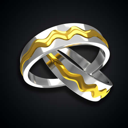 Pair of Golden Rings Stock Photo - 14504722