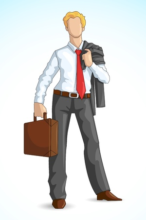business briefcase: Business Executive with Briefcase Illustration