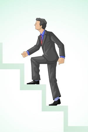 Executive Climbing Success Vector