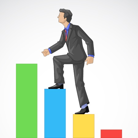 Executive Climbing Bar Graph photo