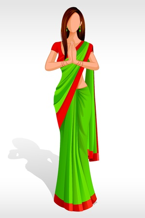 Indian Lady Greeting Stock Photo - 14588286
