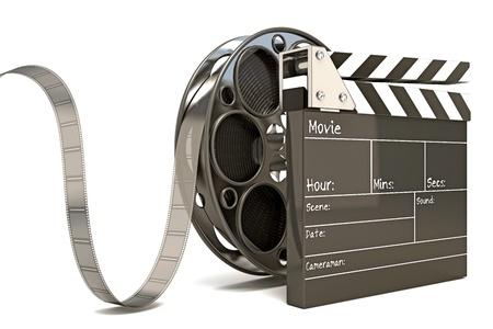 battant: Conseil Clap avec Reel Film Banque d'images