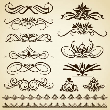 christmas tattoo: Vintage Calligraphic Design