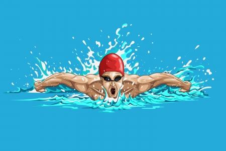 piscina olimpica: Nadador
