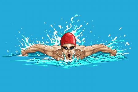 swimming underwater: Swimmer