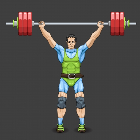 Male Weightlifter Vector