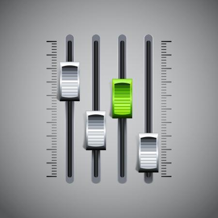 Console mikser dźwięku Ilustracje wektorowe