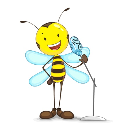 Singing Bee Vector