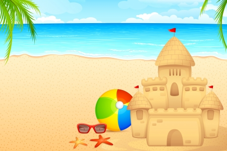 Sand Castle Stock Vector - 14814153
