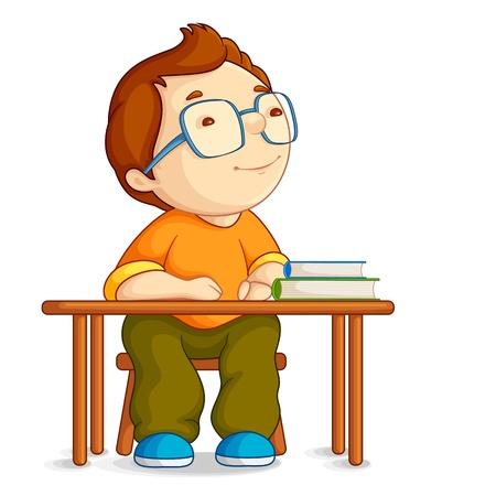 student boy: Scuola ragazzo confuso Vettoriali