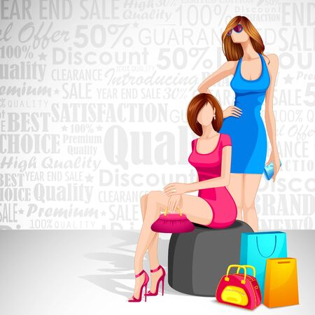 Ladies enjoying Sale Stock Vector - 14814143