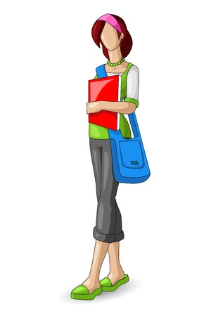 Female Student Stock Vector - 14814096