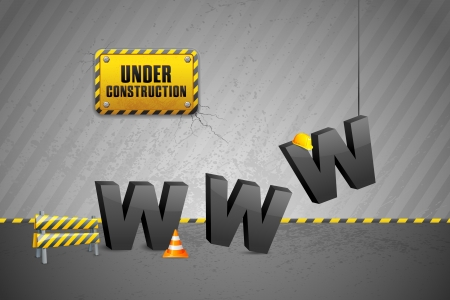 Construction of WWW Stock Vector - 14814158