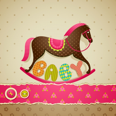 rocking horse: Baby Shower Background