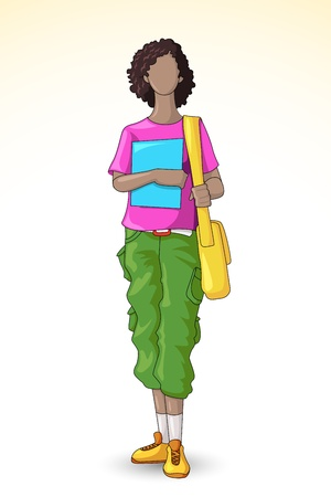 Female Student Vector