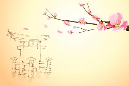 Spring in Miyajima Vector