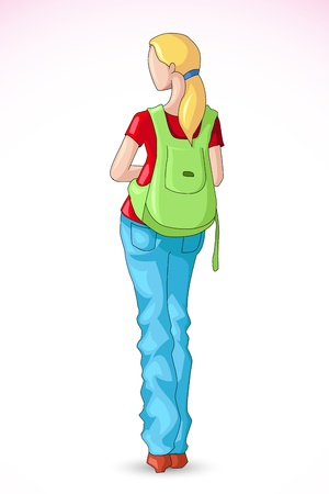 college girl: Female Student Illustration