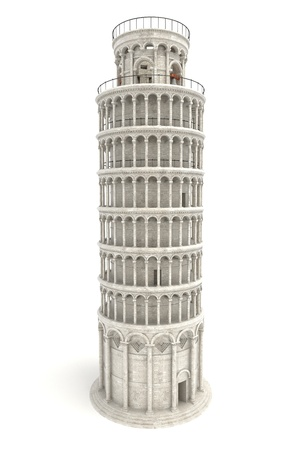 tower of pisa: Leaning Tower of Pisa Stock Photo