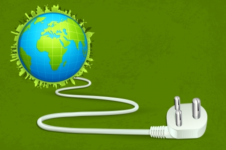 Power Cable connected with Earth