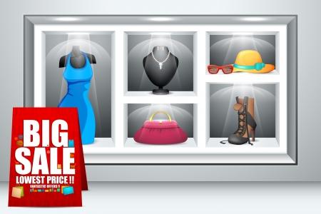 store window: Weergave van mode-accessoire