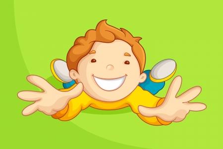 Playing Kid Stock Vector - 14892376