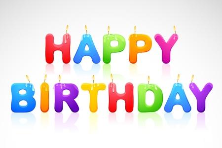 happy birthday text: Happy Birthday Candle