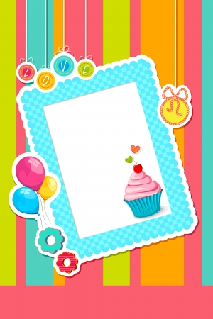 Birthday Scrapbook Vector