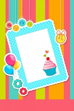 Birthday Scrapbook Vector