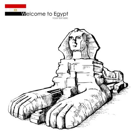 flag of egypt: La Gran Esfinge