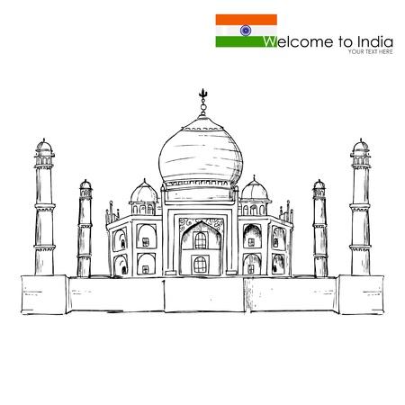 インド: タージ ・ マハル  イラスト・ベクター素材