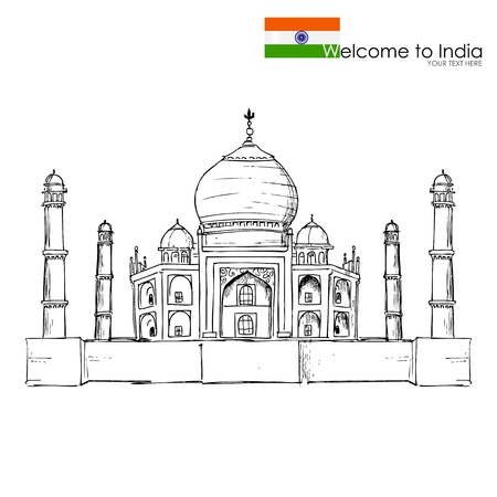 building sketch: Taj Mahal