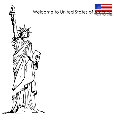 historical landmark: Statue of Liberty Illustration