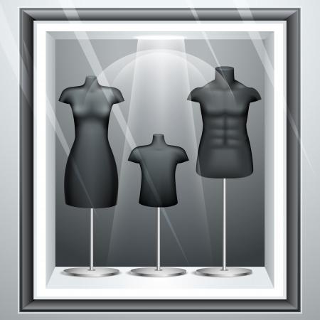 Mannequine in Display Stock Vector - 14892460