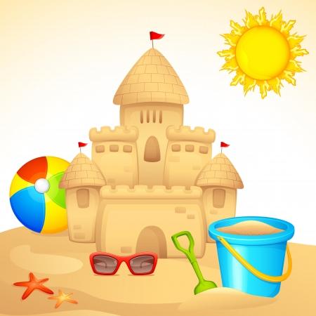 Sand Castle with Sandpit Kit Stock Vector - 14892454