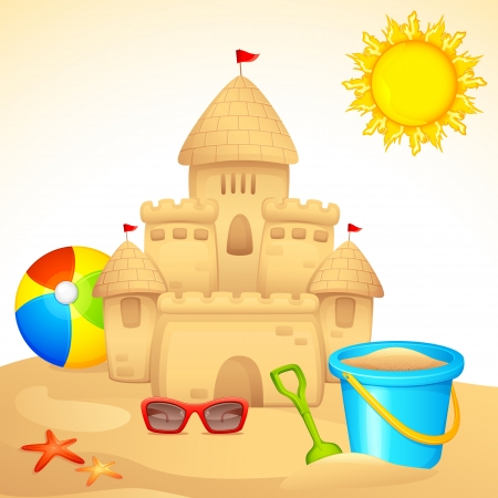 manor: Sand Castle with Sandpit Kit Illustration