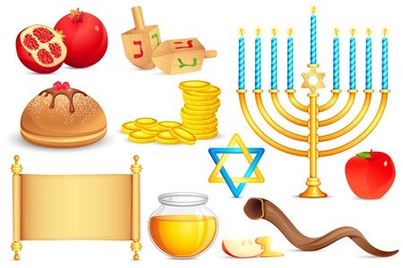 dreidel: Jewish holy Object Illustration