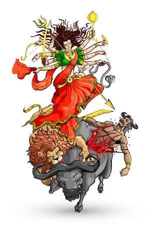 Goddess Durga Vector