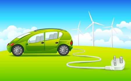 fuel economy: Green Energy Illustration