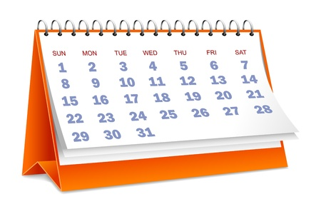 note pc: Calendar Illustration