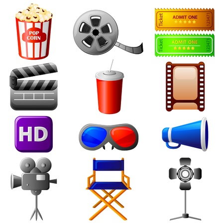 entertainment industry: Cinema Icon Illustration