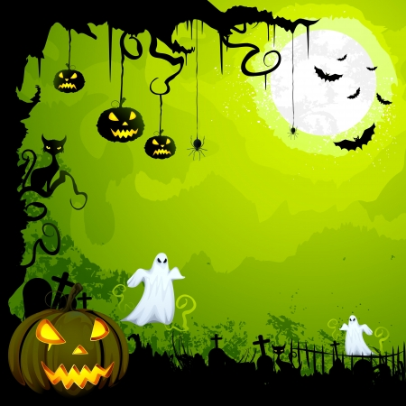spiders: Halloween Background Illustration