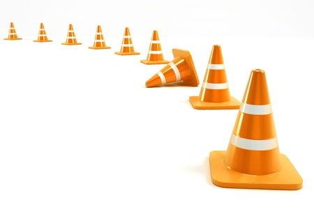 danger symbol: Under Construction Cone