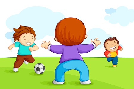 playing soccer: Kids Playing Soccer
