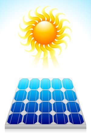 Solar Power Panel Stock Vector - 14985567