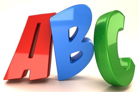 uppercase: Glossy alphabet