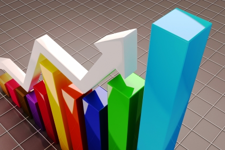 Growing Graph Stock Photo - 14985506